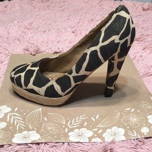 Giraffe pump shoe Sz 8.5